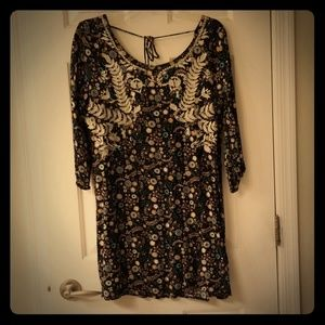 Xhilaration dress with embroidery in size large